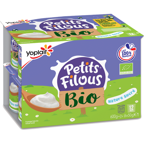 Yoplait Petits Filous Bio Nature Sucre