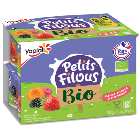 Yoplait Petits Filous Bio Fruit Yaourt