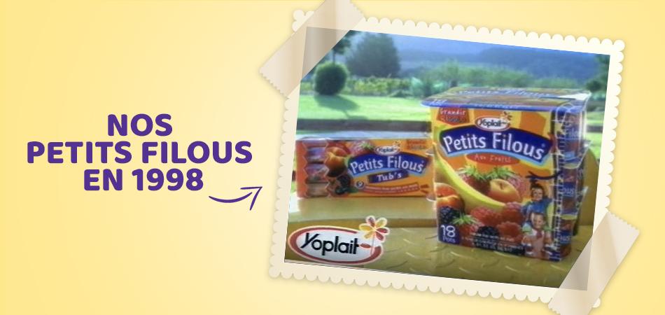 Yoplait Petits Filous a lancé, dans le marché Britannique, ses premiers produits yaourts en 1998